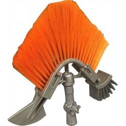 Outil 3 en 1 pour perche - accessoire nettoyage de gouttières