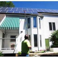 Perche télescopique nettoyage panneaux solaires - longueur 10,80 mètres