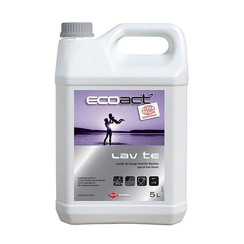 Liquide de lavage MACHINE - EAU DOUCE MOYENNEMENT DURE 5 litres - ECOACT